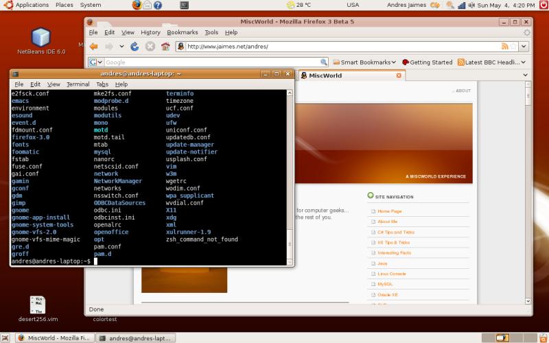 Ubuntu 8 Desktop